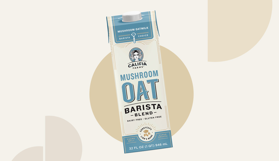Thumbnail for The New Califia Farms Mushroom Oat Milk Tastes More Like Dairy Than Any Alt-Milk I've Tried