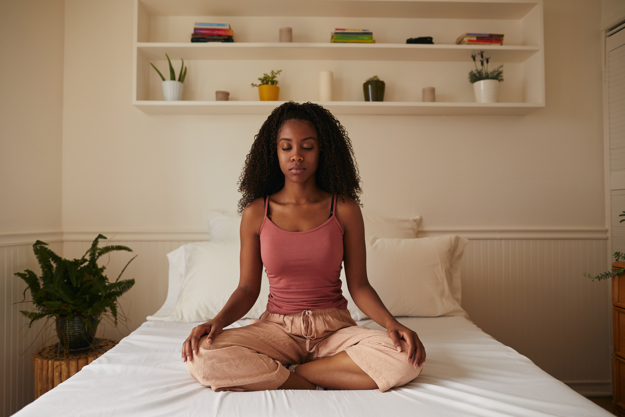 Thumbnail for Spiraling Thoughts Keeping You Up at Night? Try This Breathwork Exercise for Sleep