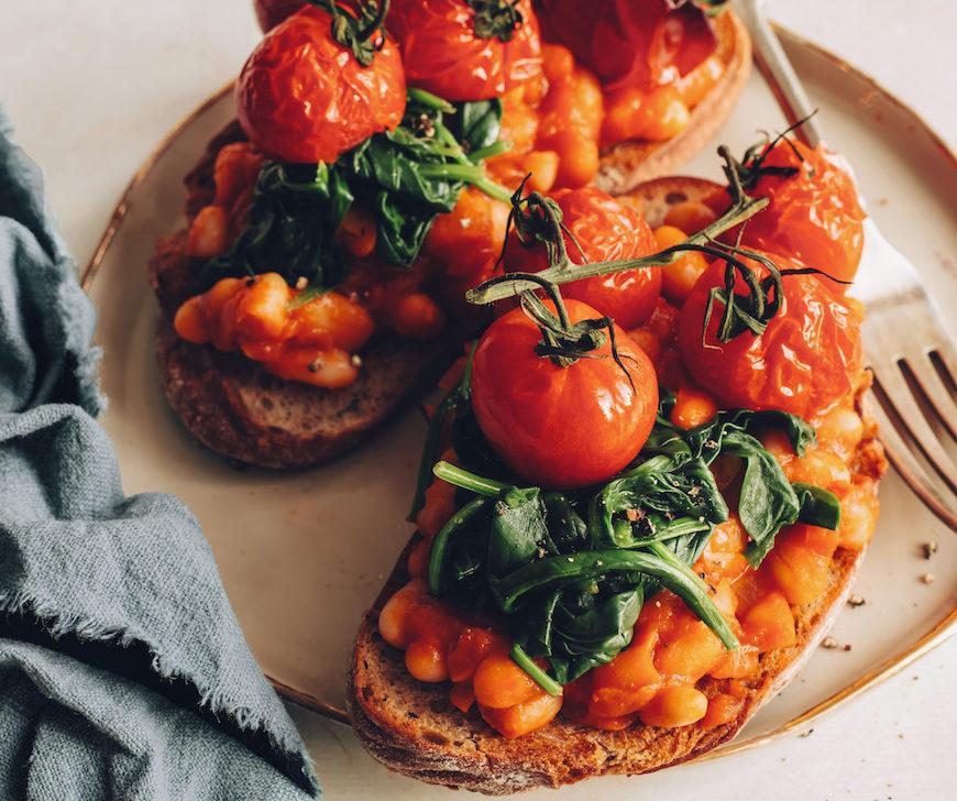 bean breakfast recipes toast