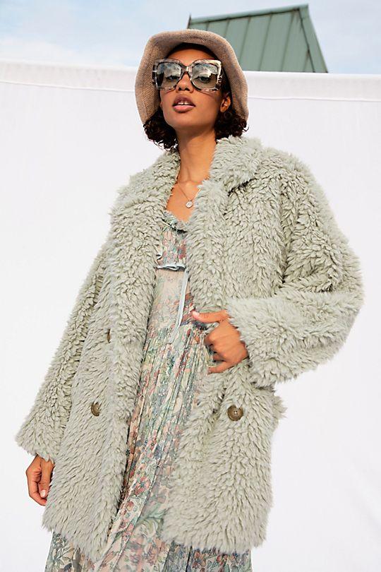 free people sage coat