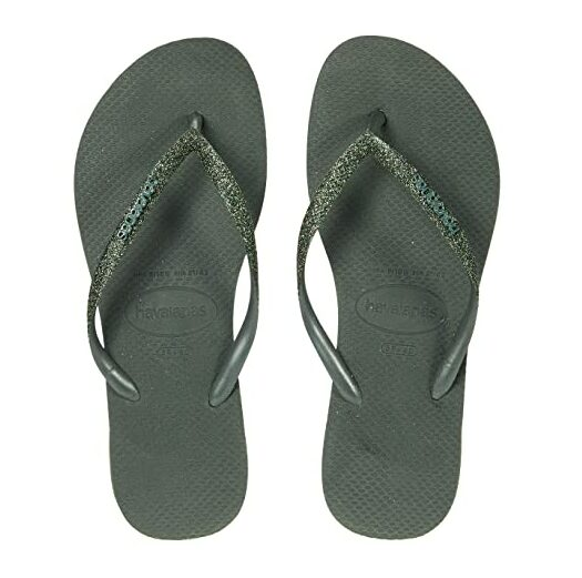 havianas green flip flops