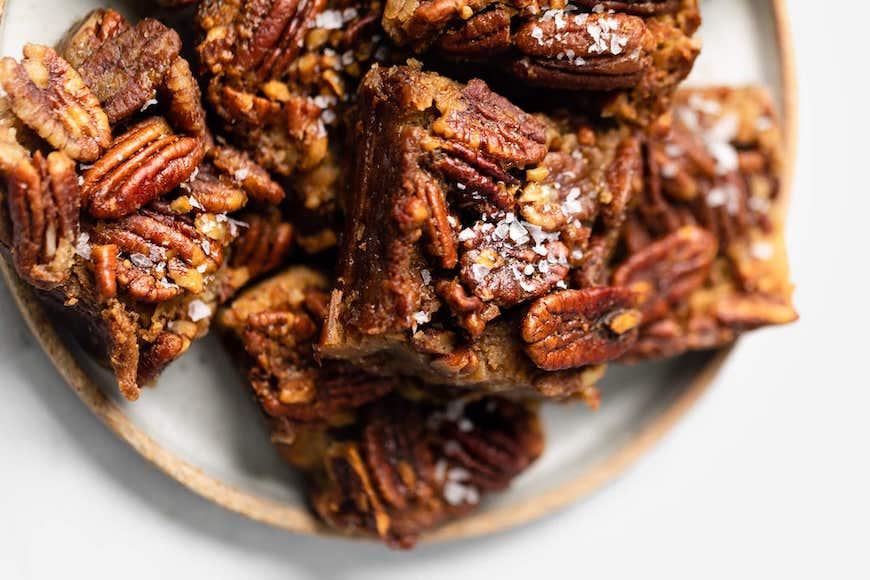 high-protein dessert recipes pecan bars