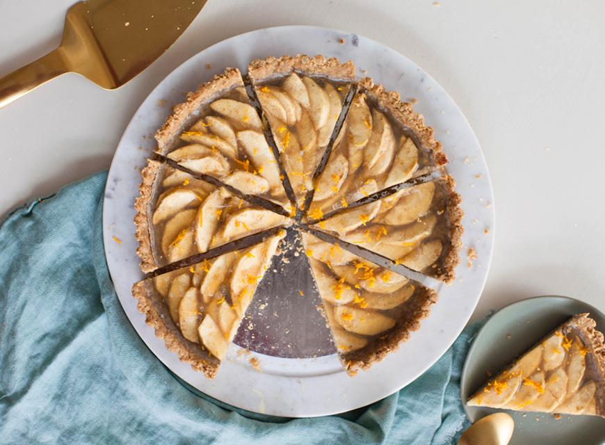 high protein desserts apple tart