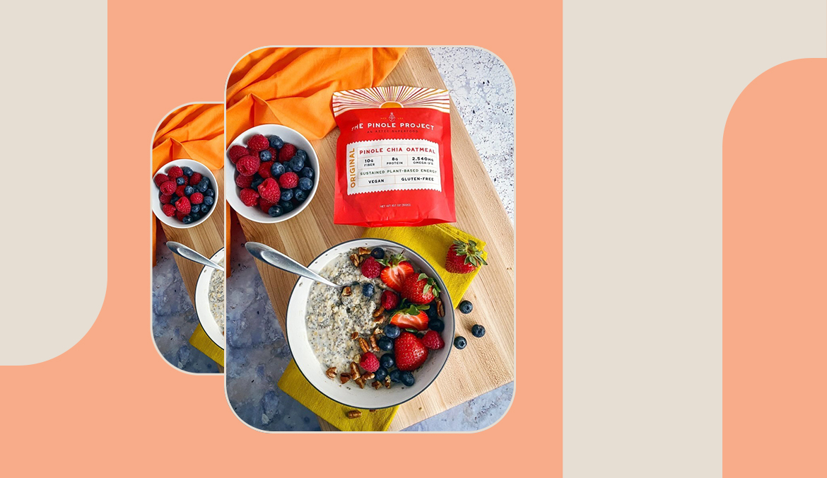 Thumbnail for This New Pinole Chia Oatmeal Is the Superfood-Packed, Anti-Inflammatory Way to Sustain Your Day's Energy