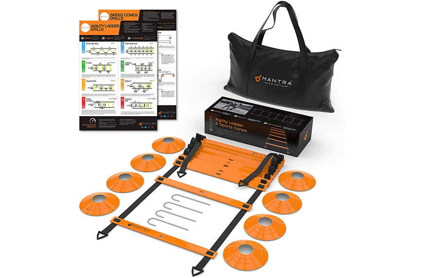 20ft Agility Ladder & Speed Cones Training Set, agility training for tennis