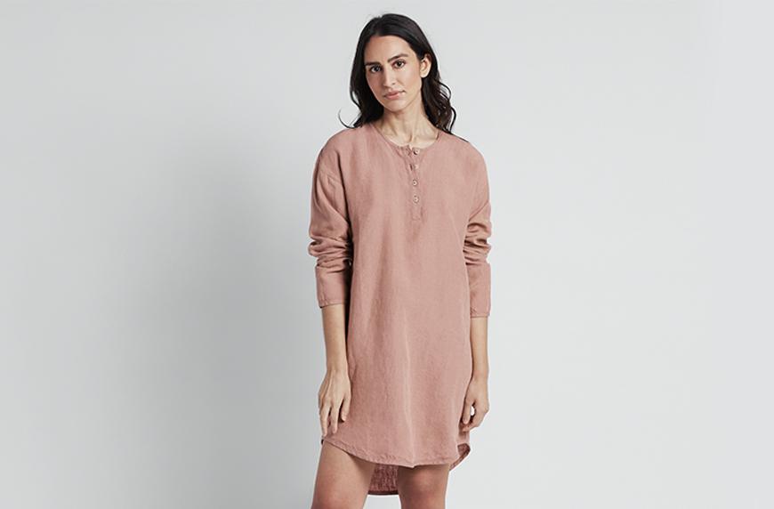 Sleep Shirt, Parachute linen loungewear