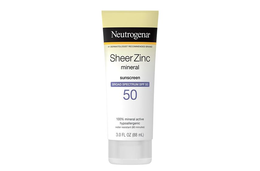 Neutrogena Sheer Zinc Sunscreen Lotion SPF 50, tsa sunscreen size