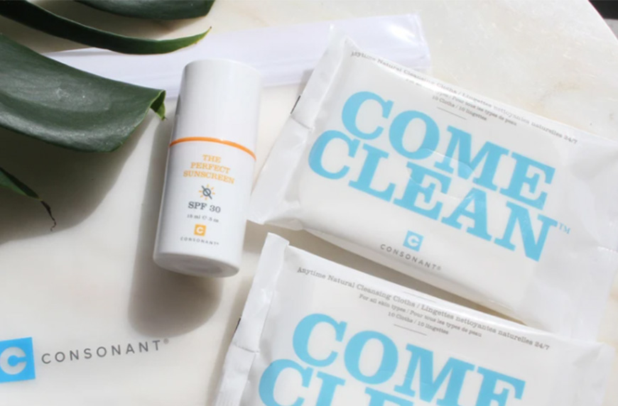 Consonant Skin + Care Sun Protection To-Go Bundle, a cozy outdoor space