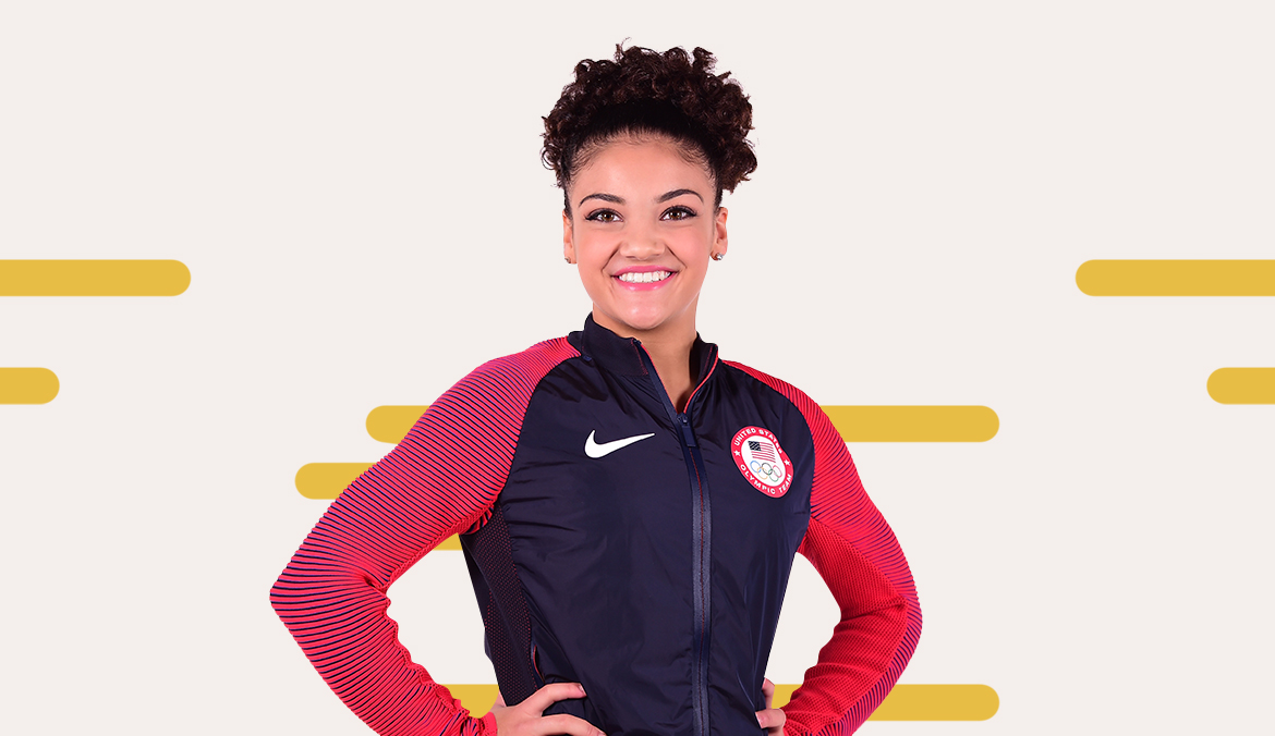 Thumbnail for The 2 Stretches Olympic Gymnast Laurie Hernandez Does For Tight Hips and Calves