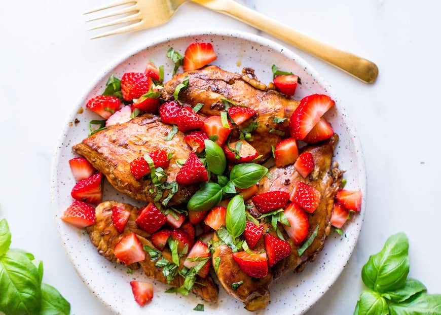 recipes with strawberries chicken