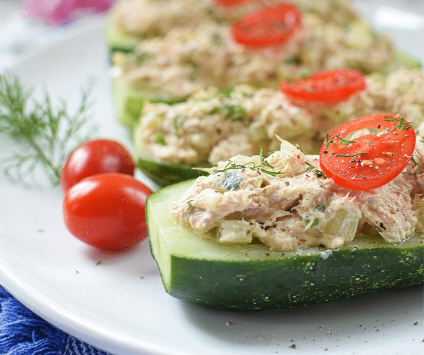 cooking with cucumbers boats