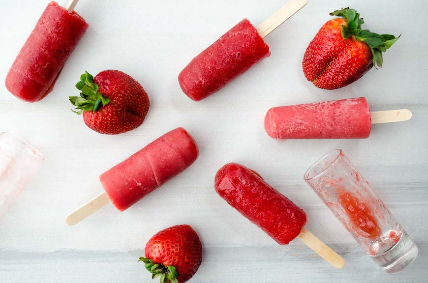 recipes with strawberries ice-pops