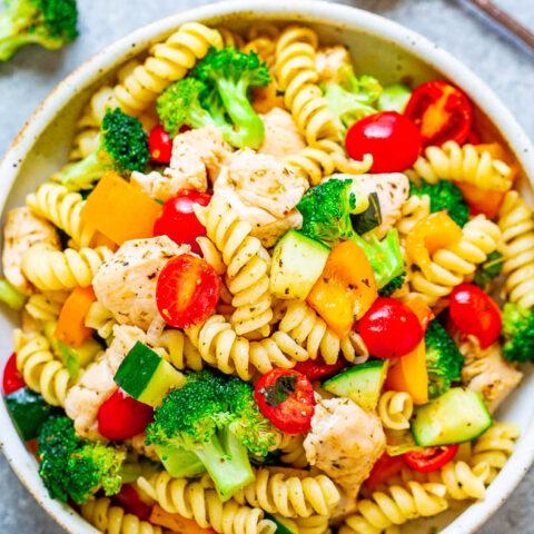Italian Chicken pasta salad |