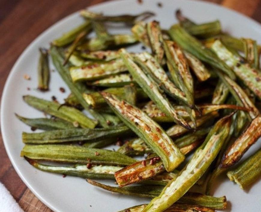 oven-roasted okra