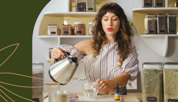 How To Make a Sparkling Nightcap Tea With Herbs for Better Sleep