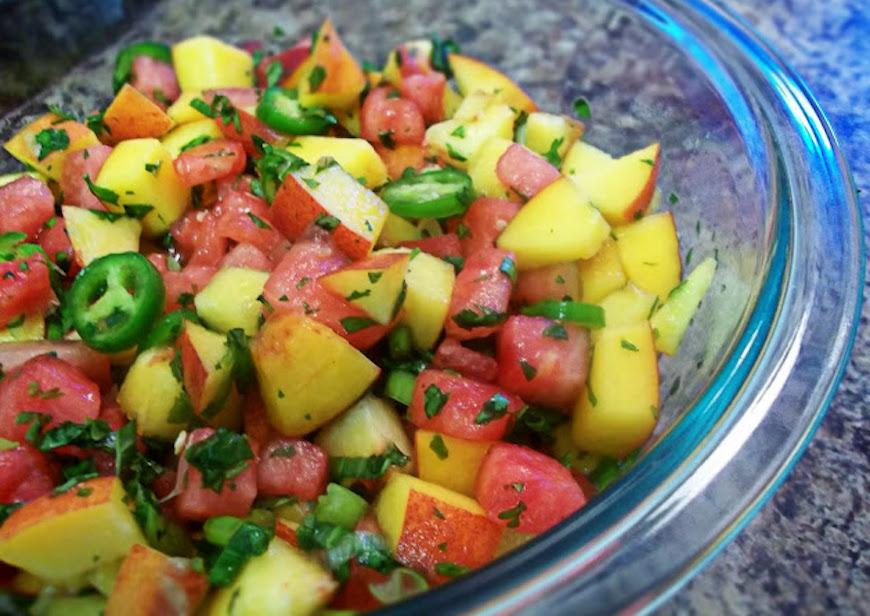 how to cut peaches recipes