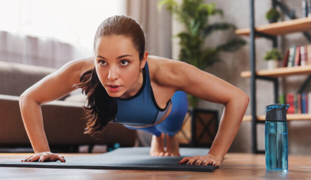 The Corkscrew Push-Up Targets Your Arms and Obliques In a Single Move