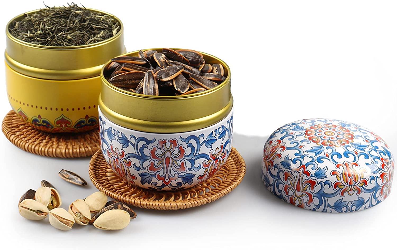 tin tea container