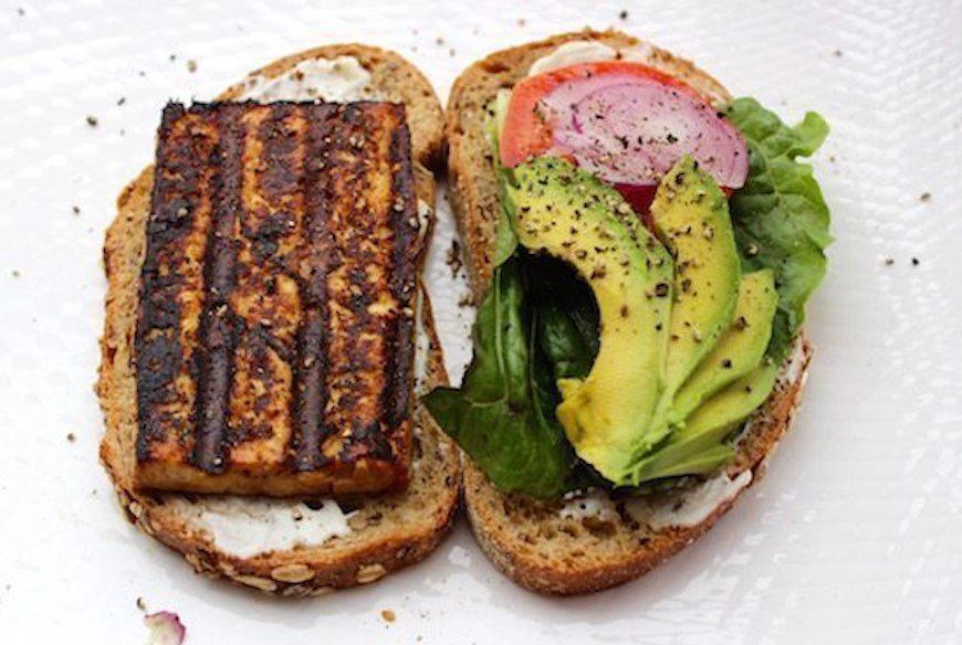 sesame tofu sandwich