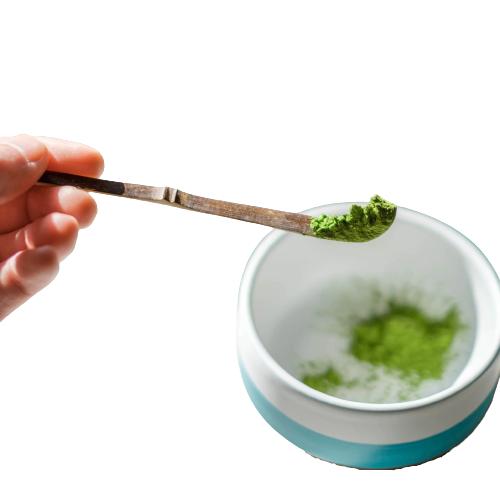 Mizuba Tea Co. Sesame Chashaku Matcha Scoop, matcha affogato